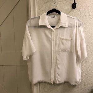 Lightweight, linen shirt.